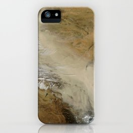 1140. Dust storm in the Gobi Desert, China iPhone Case