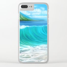 Mermaid's mountain Clear iPhone Case