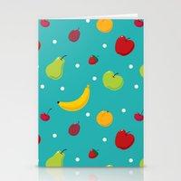 fruits Stationery Cards featuring fruits by Irina Novikova