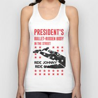 misfits Tank Tops featuring Misfits JFK Poster Series - Bullet-Ridden Body by Robert John Paterson