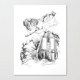 Wendy Thompson Hut - Single Line Canvas Print