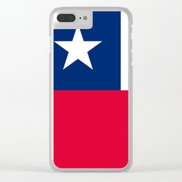 Chile flag Clear iPhone Case