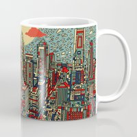 philadelphia Mugs featuring philadelphia by Bekim ART