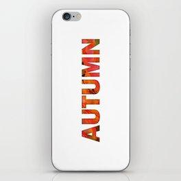 Peecking Season - Autumn iPhone Skin