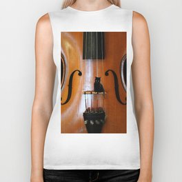 Black Cat And Violin #decor #society6 Biker Tank