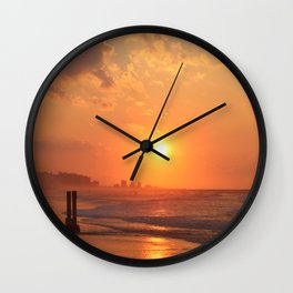 Myrtle Beach Fiery Sunrise Wall Clock