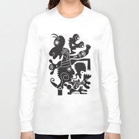 tote bag Long Sleeve T-shirts featuring Tote Um by Ray Moore