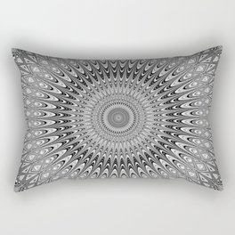 Grey mandala Rectangular Pillow