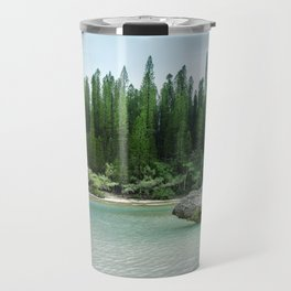 Nature corner at the secluded Natural Pool on Isle of Pines in New Caledonia. Travel Mug