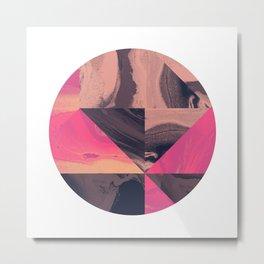 Triangular Magma Metal Print