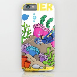 I'd Rather Be Scuba Diving Vacation iPhone Case