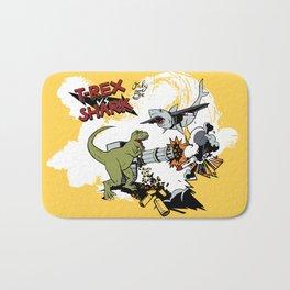 T-Rex VS Shark  Bath Mat