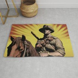 Australian Light Horse soldier Rug