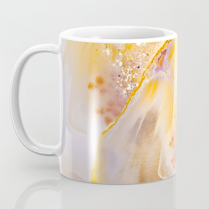 Modern Blush and gold Agate Coffee Mug