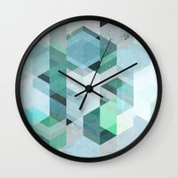 nordic Wall Clocks featuring Nordic Combination 22 by Mareike Böhmer