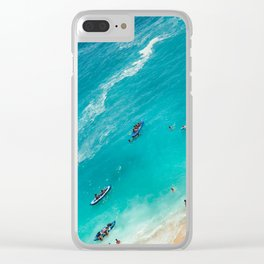 Beach from above Clear iPhone Case