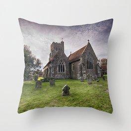 All Saints Wittersham Throw Pillow