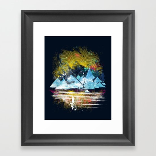 iceland islands Framed Art Print