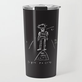 Vectorised Basquiat 80s Punk Rock / ska record cover Travel Mug