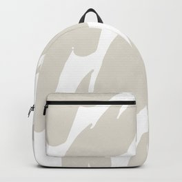 Neutral Abstract Brush Marks Backpack