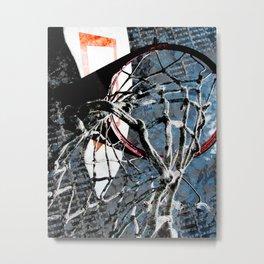 Basketball art swoosh vs 43 Metal Print