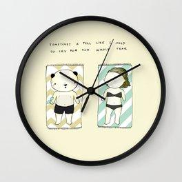 Full moon mood Wall Clock