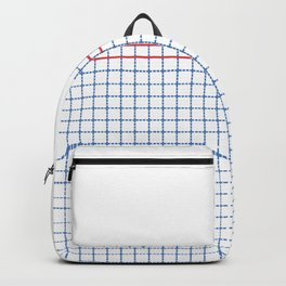 Dotted Grid Boarder Blue Red 2 Backpack