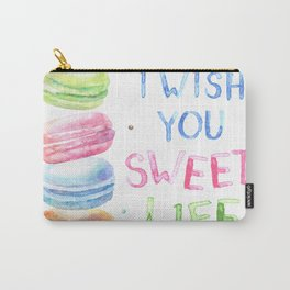 I Wish You Sweet Life Carry-All Pouch