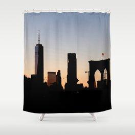 Brooklyn Bridge Skyline Shower Curtain