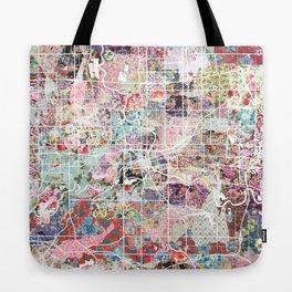 Des Moines map Tote Bag
