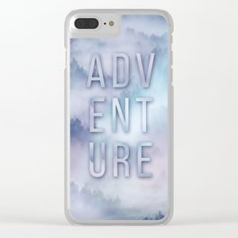 Adventure Typo Clear iPhone Case