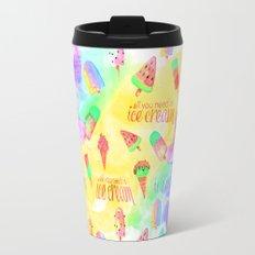 ALL YOU NEED IS ICECREAM - seamless summerpattern  Travel Mug