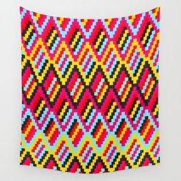 Retro Diamond Pattern (Orko Colorway) Wall Tapestry
