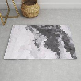 Mountains Black & white Rug