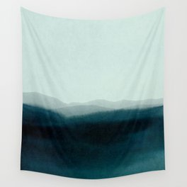 morning mist scenery Wall Tapestry