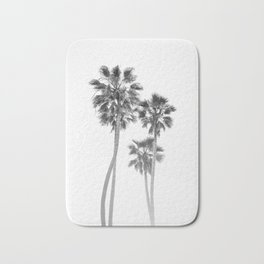Monochrome California Palms Bath Mat