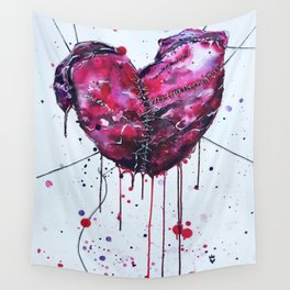 Fused Hearts Wall Tapestry