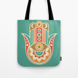 Colorful Hamsa Hand Tote Bag