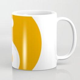 Yin & Yang (Orange & White) Coffee Mug