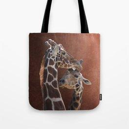Endearing Giraffes Tote Bag