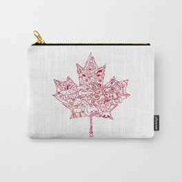 Maple Leaf - red Carry-All Pouch