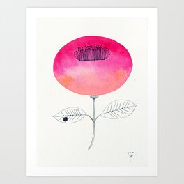Flower of happiness Art Print