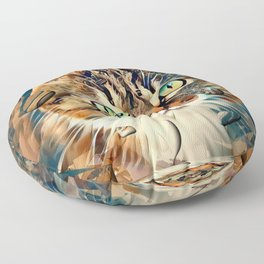 Cats Popart by Nico Bielow Floor Pillow