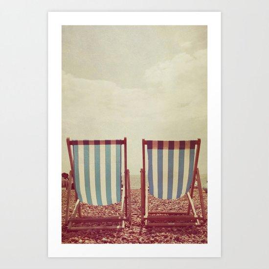 Deck Chairs Art Print