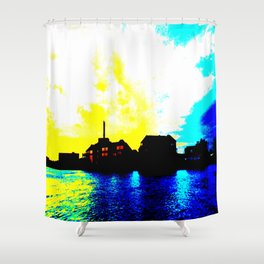 Sunset at the Lake House Shower Curtain