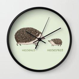 Hedgehog Hedgesprog Wall Clock