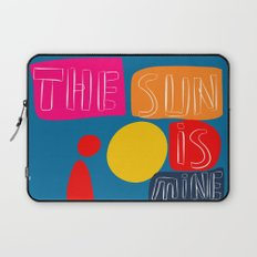 The sun is mine today illustration Laptop Sleeve