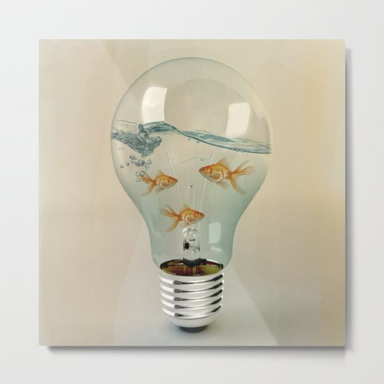ideas and goldfish 03 Metal Print