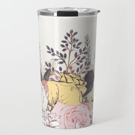 Miles and miles of rose garden. Retro floral pattern in vintag style Travel Mug