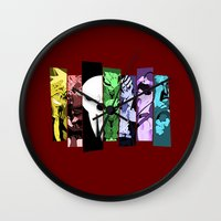 soul eater Wall Clocks featuring Soul Eater by feimyconcepts05